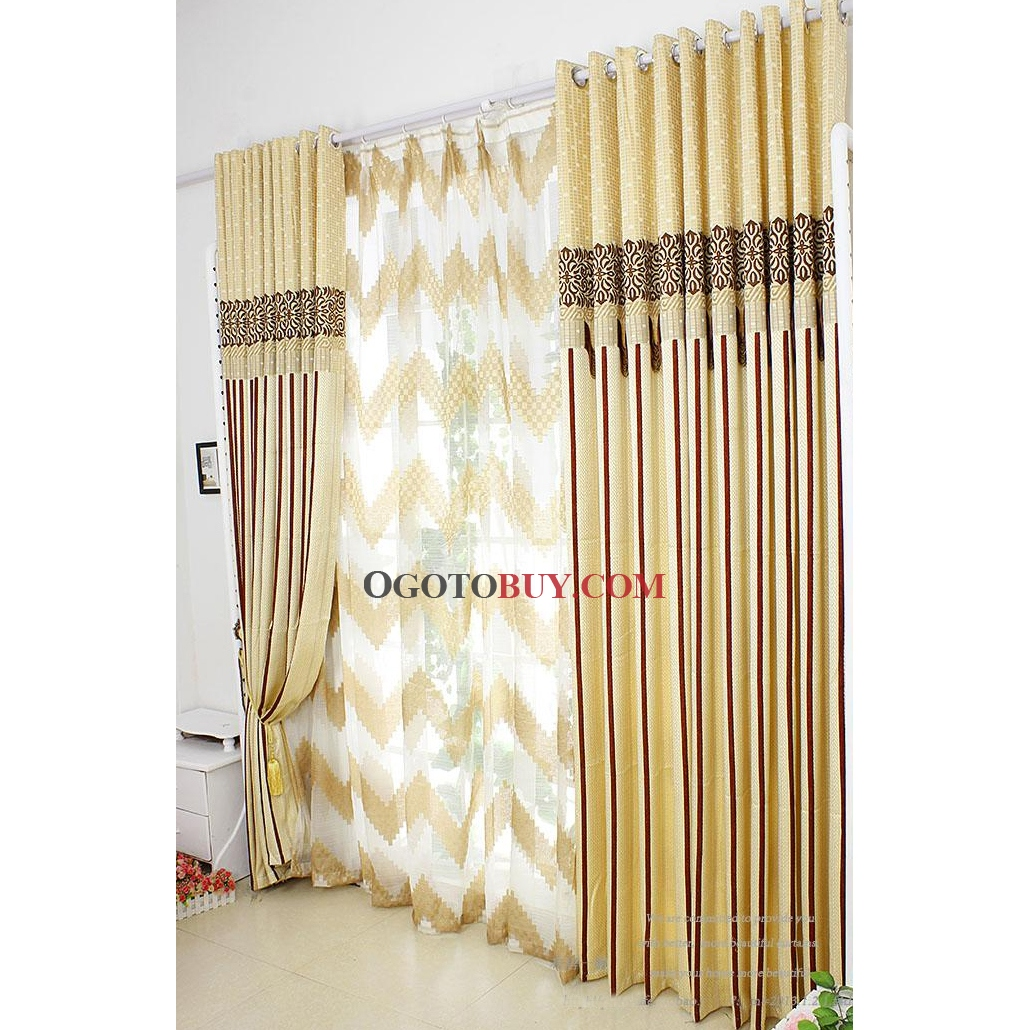 Loading Zoom. Energy Saving Curtains With Striped Yellow ...