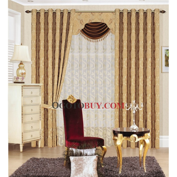 jacquard blending soundproof curtains loading zoom