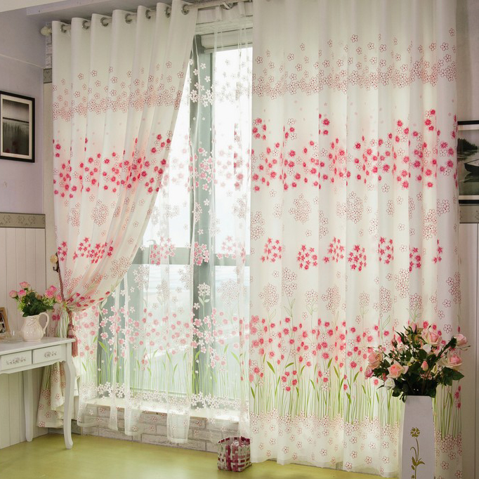 Floral Country Atmosphere Dining Room Curtains Loading Zoom