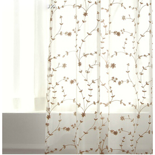 Loading Zoom Floral Country Simple Wholesale Sheer Curtains