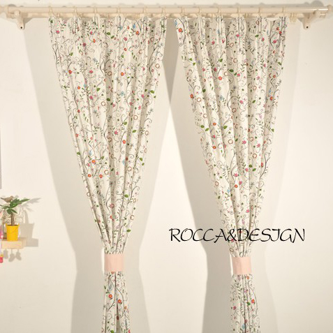 Curtains Flowers - Rooms