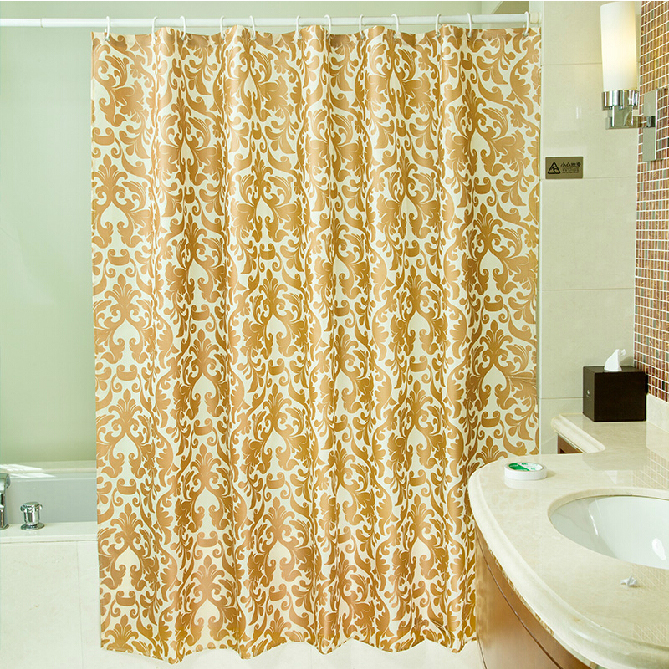 Gold Color Modern Shower Curtain Made of Polyester , Buy Gold ...