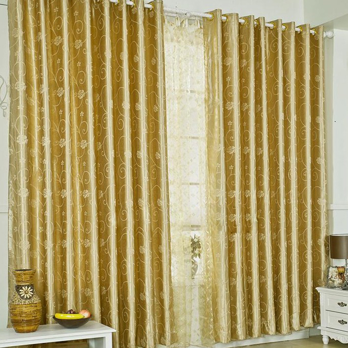 Wonderful Loading Zoom. Gold Printing Of Flowers Living Room Blackout Curtains ...