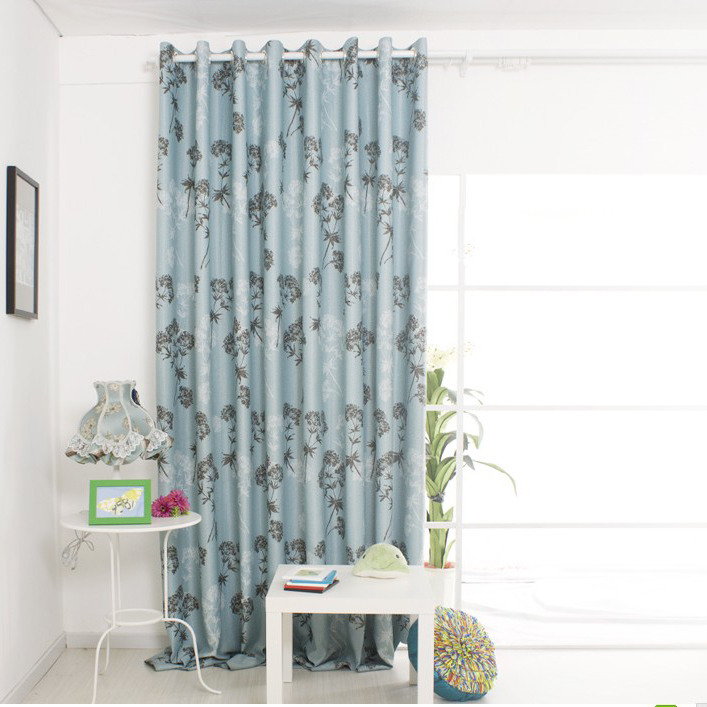 blue curtains living room gorgeous leaf jacquard blue living room