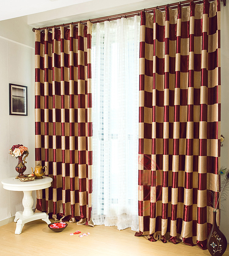 Red And Brown Floral Shower Curtains