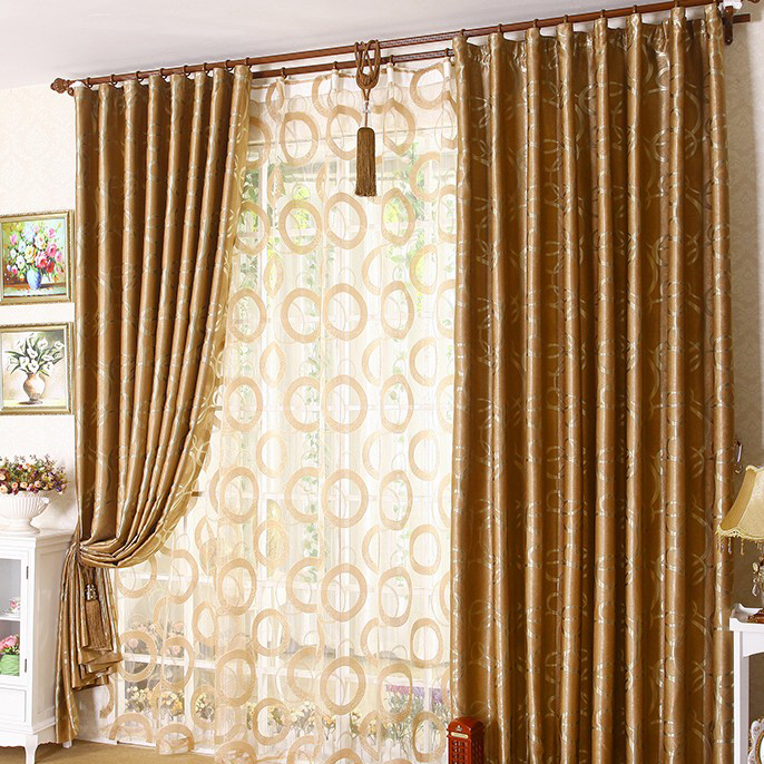 Bedroom Curtain Graceful-golden-yellow- ...