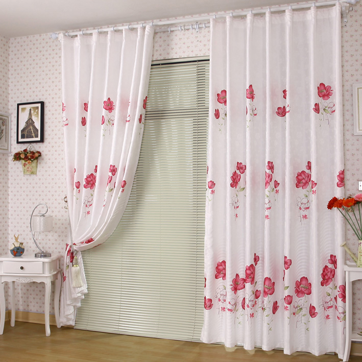 Navy And Gray Curtains Red and White Graphic Designs