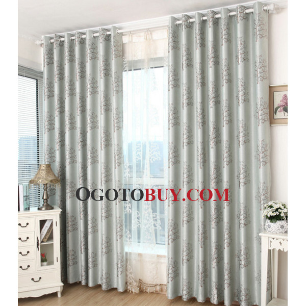 Gray Patterned Casual Half Price Floral Luxury curtains, Buy gray ...