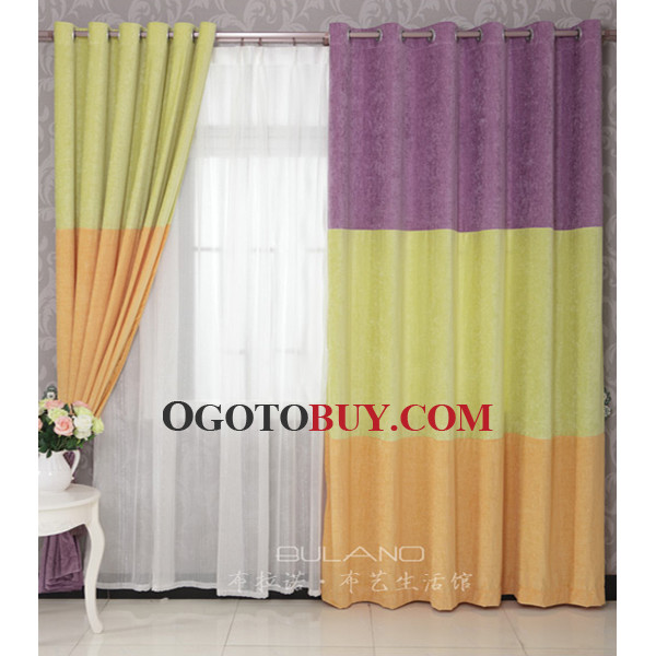 Loading Zoom. Green And Orange Simple Chic Casual Discount Purple Curtains  ...