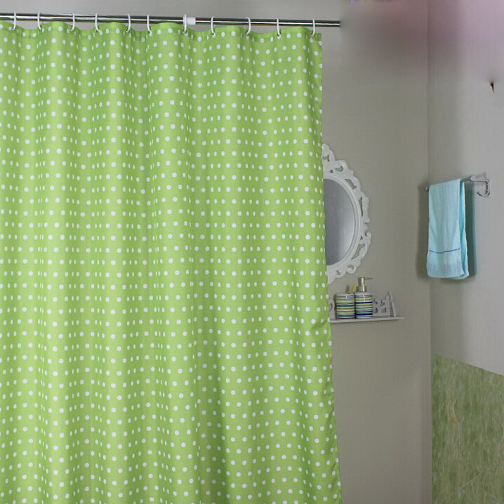 Modern Green Shower Curtains