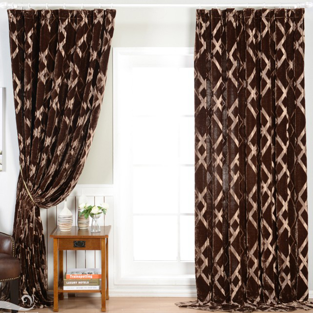 chocolate blackout curtains