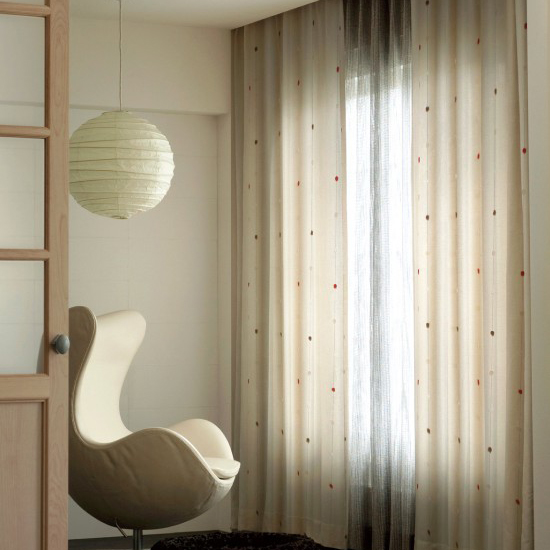 Ivory Flocking Cotton Blackout Curtains for Kids , Buy Ivory ...