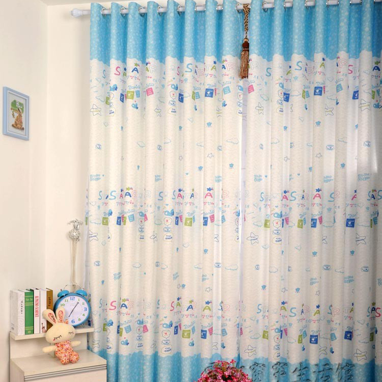 Kid Favorite Printed Stars Blackout Kids Room Curtains (Two Panels ...