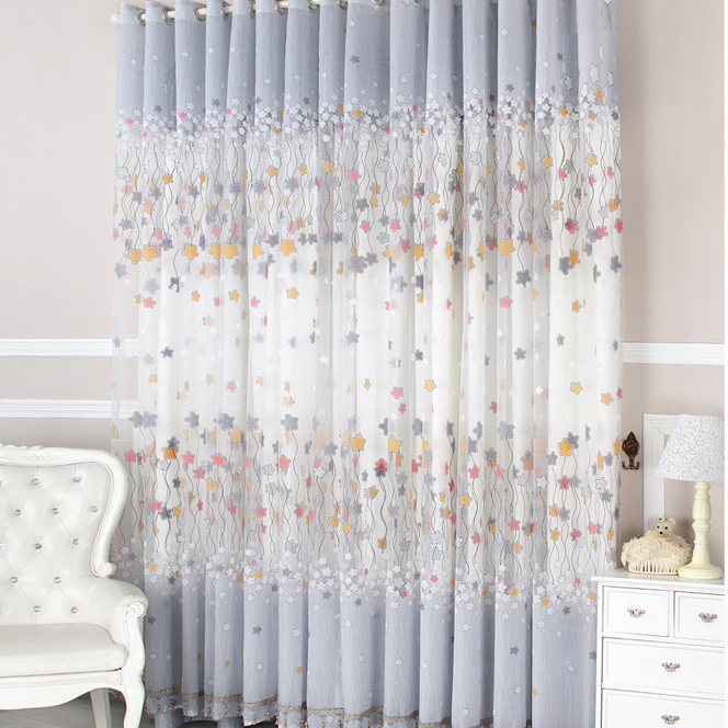 Curtains Ideas cheap curtains for sale : Kids Favorite Cotton Star Printing Lace Eco-friendly Curtains ...