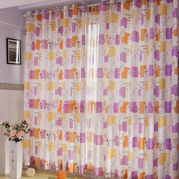 ... Kids Multi Colors Cotton Blackout Curtains. Loading Zoom