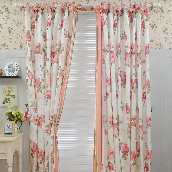Country Curtains country curtains on sale : Lace Flower Country Curtains of Blending Materials in Pink , Buy ...
