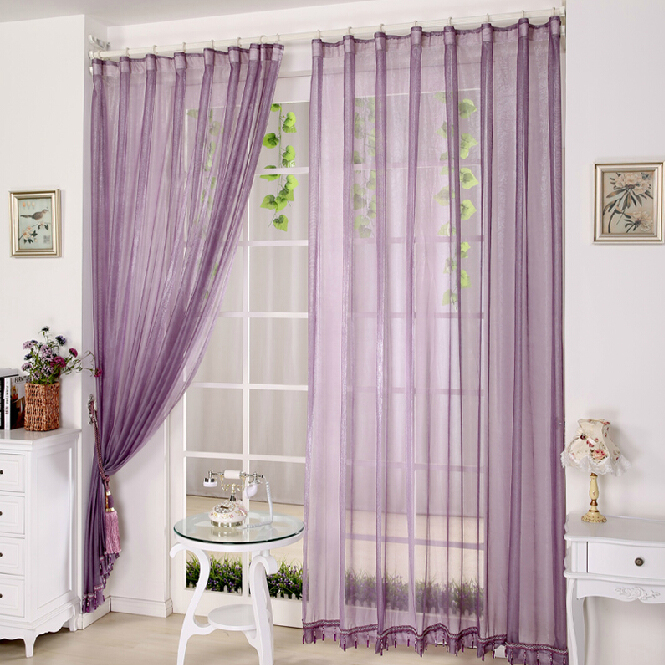 lilac bedroom or balcony cheap sheer curtains, buy lilac sheer, Bedroom decor