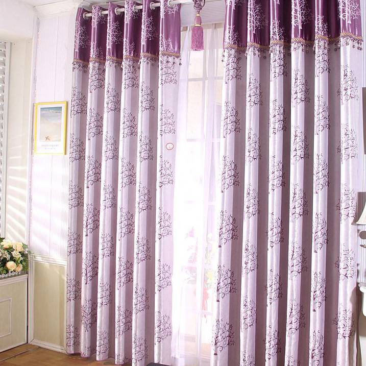 gallery for bedroom curtains purple