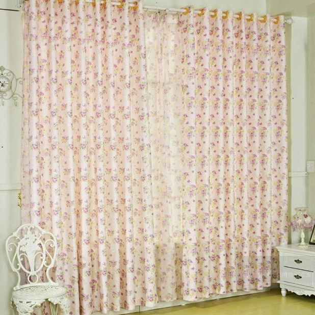 Living Room Or Bedroom Curtains Of Lilac Flowers In Pearl Pink Loading Zoom