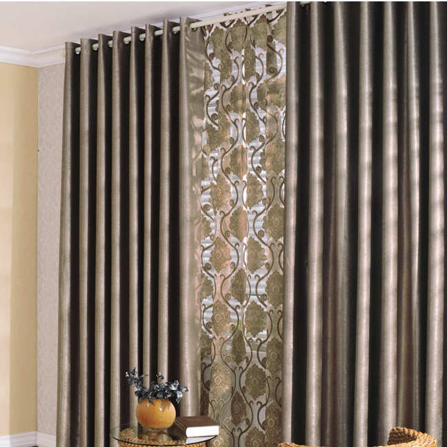 Luxurious And Noble European Style Living Room Curtains Buy Brown