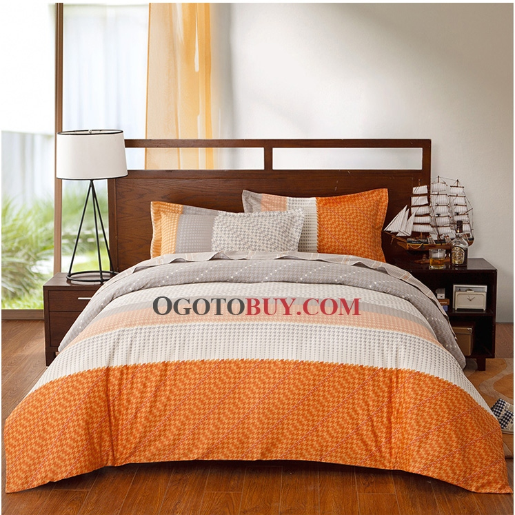 Gallery for orange and grey bedding - Red and orange comforter sets ...