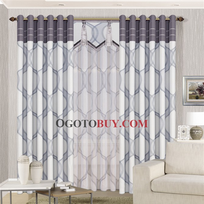 ... Curtains modern geometric patterns grey polyester blackout curtains