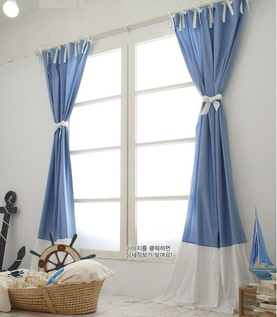 Curtains Blue And White Decorate The House With Beautiful Curtains