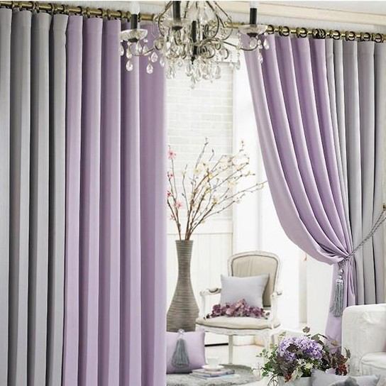 ... Modern Living Room Blackout Function Multi Colors Curtains Two ... Part 19