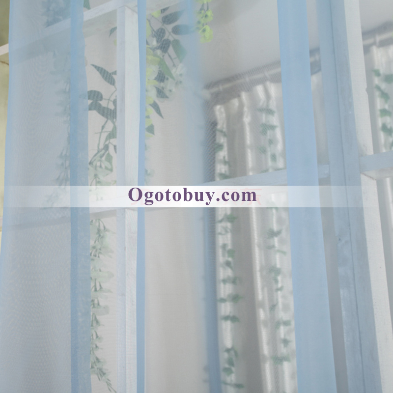 blue decorative cheap sheer curtains loading zoom