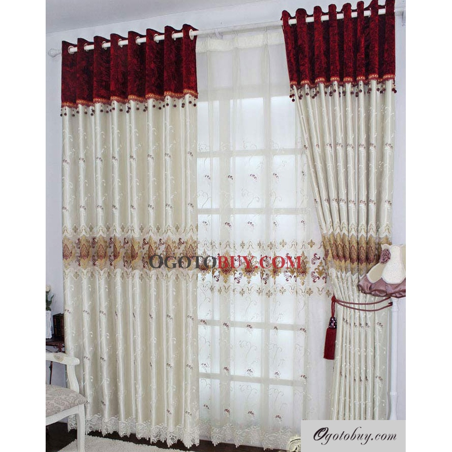 Modern white curtains - Loading Zoom Modern White Printed Jacquard Eco Friendly Curtains