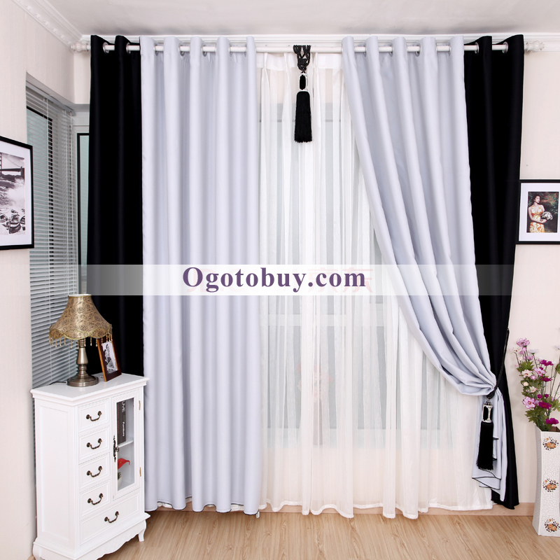 curtains white and black creative shower curtain for contemporary