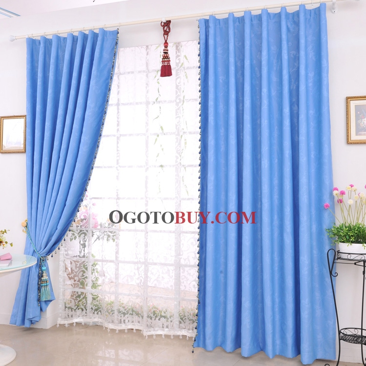 ... Blue Fully Blackout Curtains. Loading Zoom
