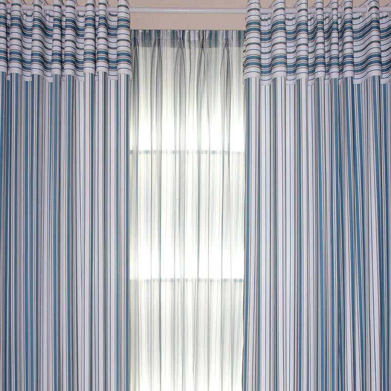Nautical Striped Beautiful Living Room Or Bedroom Curtains Loading Zoom
