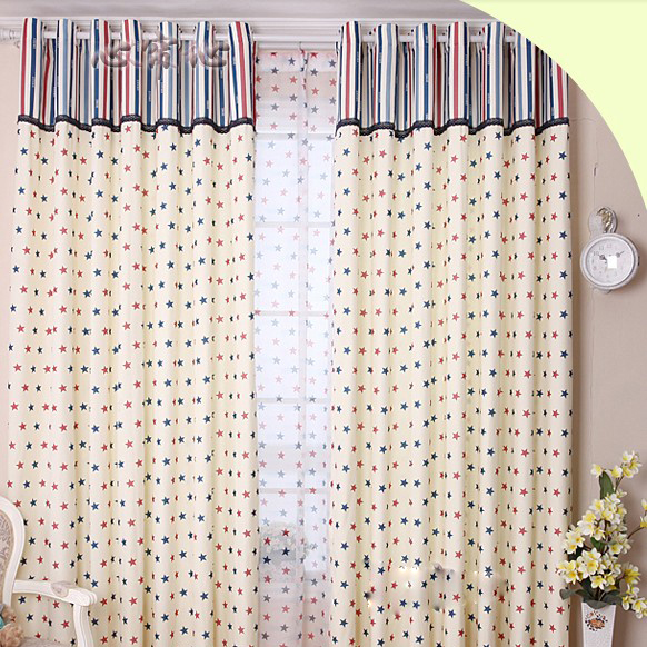Naval Stars Eco-friendly Striped Children Room Curtain (Two Panels ...