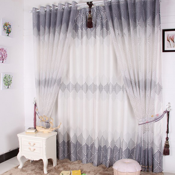 Nice Grey Polyester Living Room Energy Saving Curtains Buy Grey
