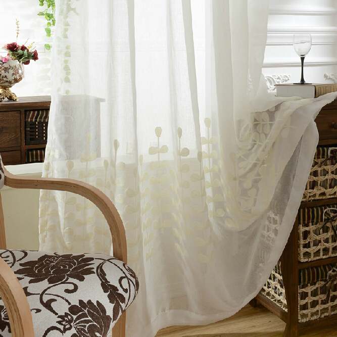 Original Country Cotton Inexpensive Sheer Curtains, Buy White ...