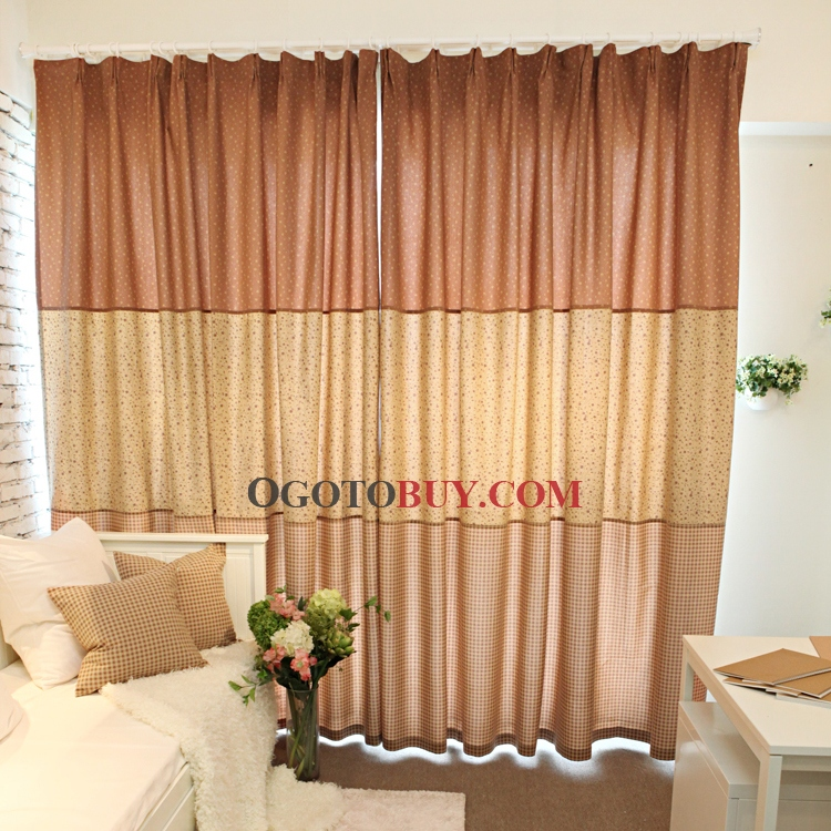 Fall color curtains