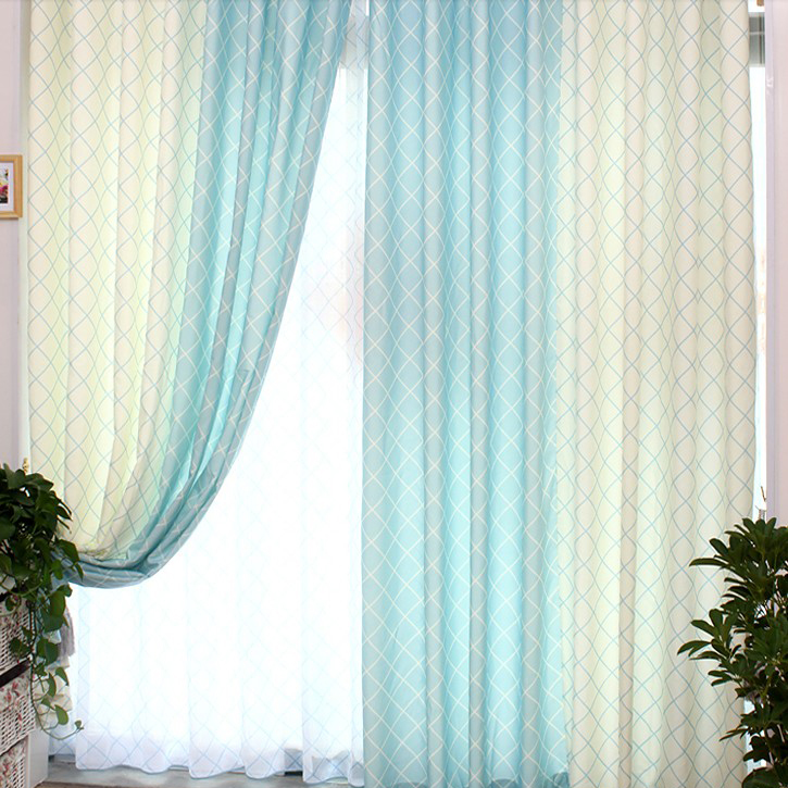Ikea Beaded Door Curtains Light Blue and White Bar