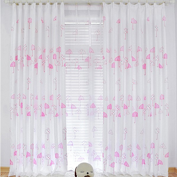 Pink Blackout Curtains Made of Cotton and Poly for Girls , Buy ...