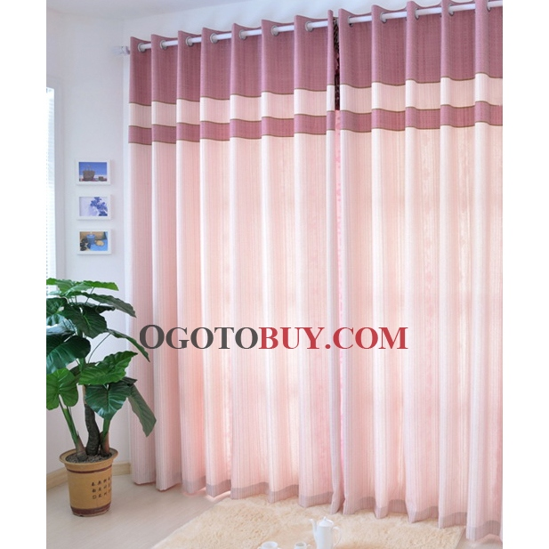 ... Curtains Of Pink Striped Pattern. Loading Zoom