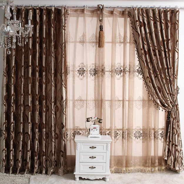Prevailing printed novelty solid sound absorption curtains