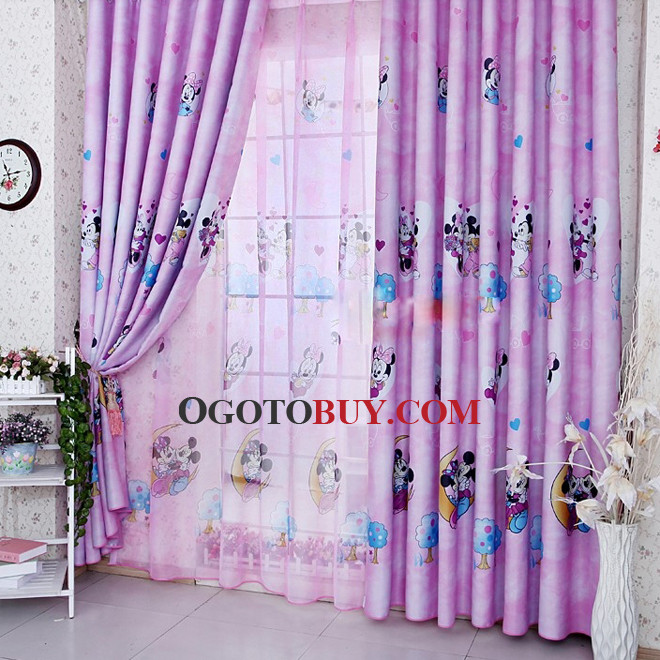 Purple Animal Patterned Unique Half Price Kids Curtains Buy - Room darkening curtains for kids