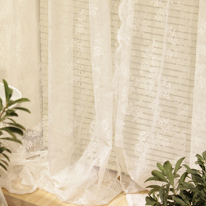 Romantic White Simple Sheer Lace Curtains, Buy White Sheer ...