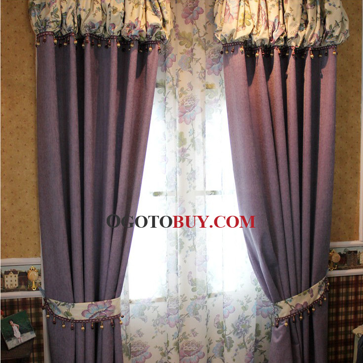 Loading Zoom. Simple Cotton Draped Energy Saving Curtains ...