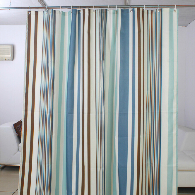 teal striped shower curtain. Loading zoom  Striped High end Light Blue Shower Curtain Buy waterproof