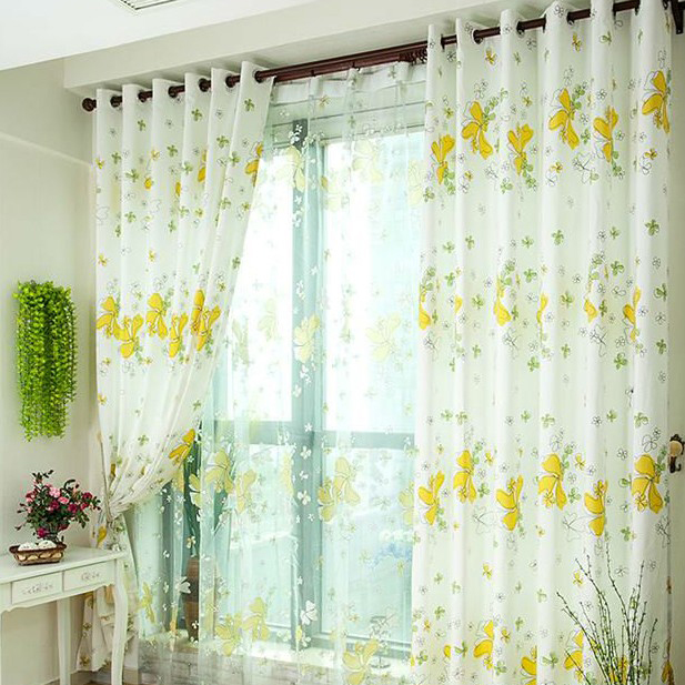 Captivating ... White And Yellow Thermal Curtains. Loading Zoom