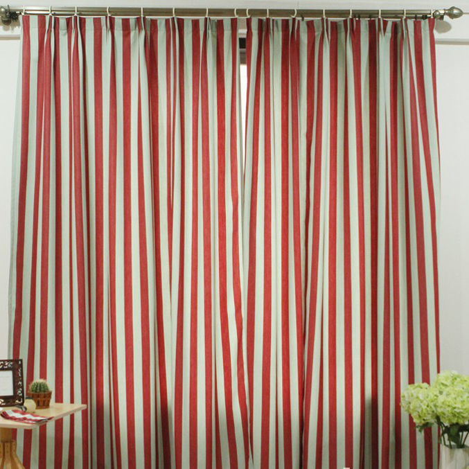 Stylish Striped Geometrical Printing Poly Novelty Curtains