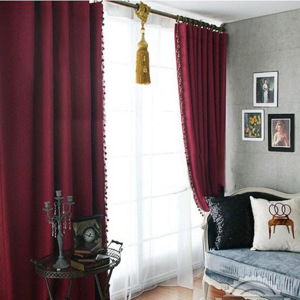 Summer New Wine Red Heat Insulation Embossed Bedroom Curtain Buy Rhogotobuy: Red Curtains For Bedroom Blackout At Home Improvement Advice