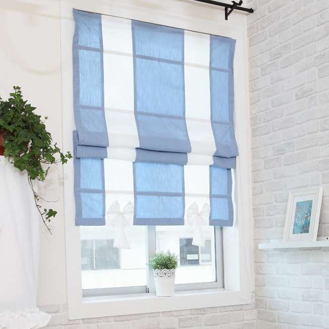 Curtains Ideas cotton curtains white : Sweet Blue and White Cotton Bow Tie Blackout Curtains , Buy Blue ...