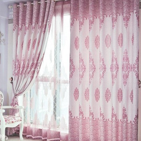 Pink and White Printed Blackout Curtains for Bedrooms Loading zoom  Sweet  Nice Pink and White. Pink Curtains For Bedroom